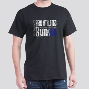 Real Athletes Run - Male Dark T-Shirt